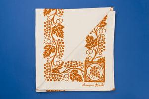 Image of TOVAGLIA STAMPATA A RUGGINE / RUST PRINTED TABLE CLOTH