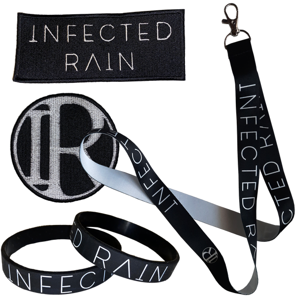 Image of A bundle (2 patches, 2 wristbands, a key lanyard)