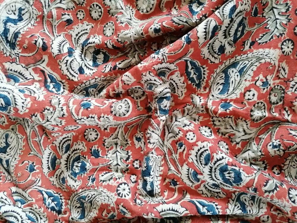 Image of Namasté fabric kalamkari paisley