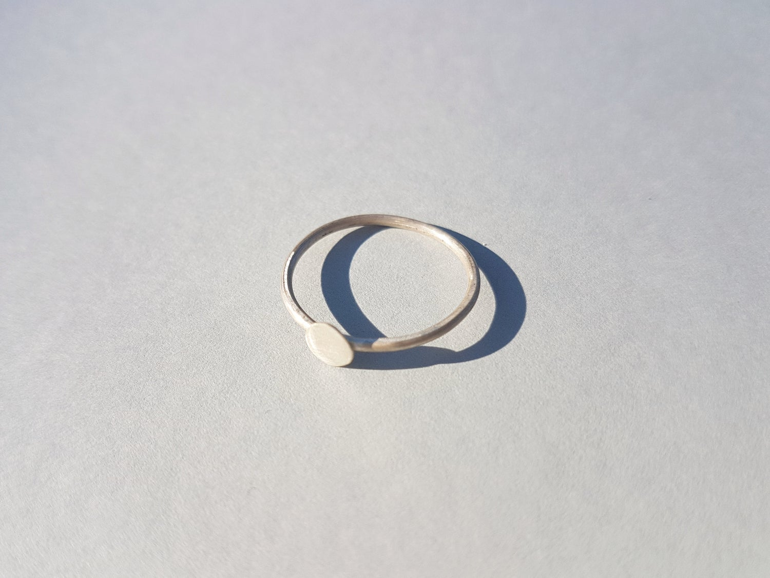 Image of Full Moon Silver Disc Ring