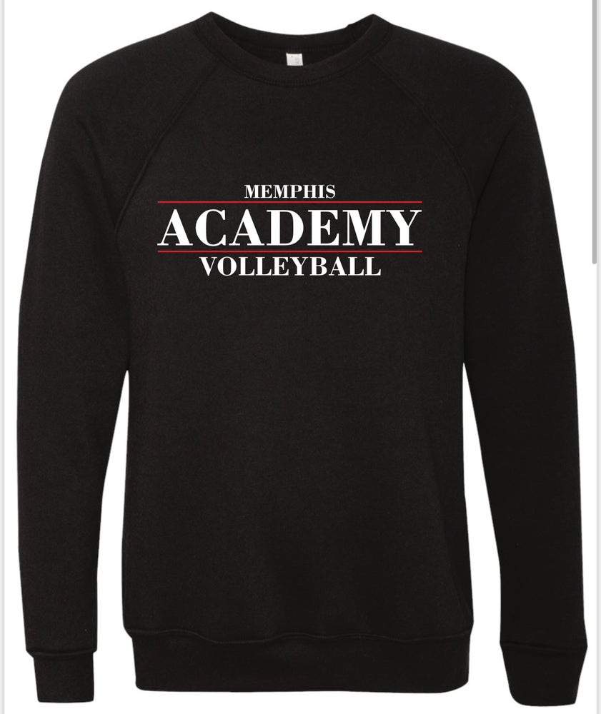 Image of Memphis Volleyball Academy Crew STACKED Logo Sweatshirt - (Multiple Color Options)