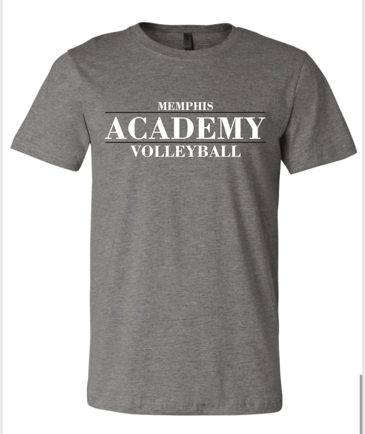 Image of Memphis Volleyball Academy STACK logo Tee (Available in Mutliple Colors)