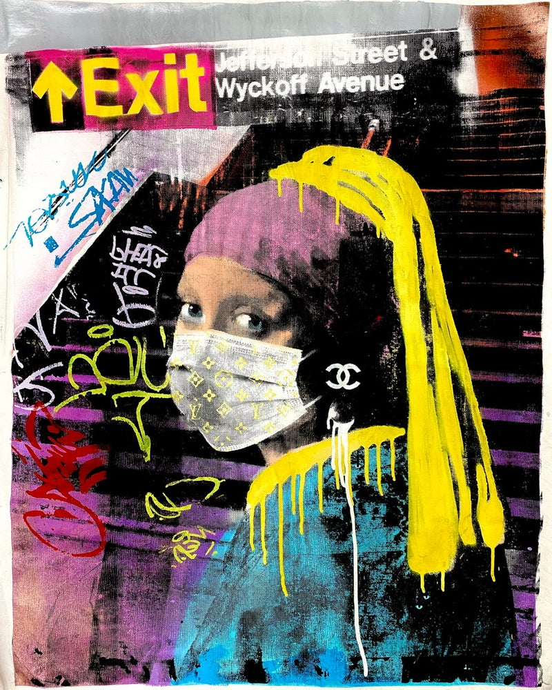 "Image of ""Exit""  Artwork on Canvas"