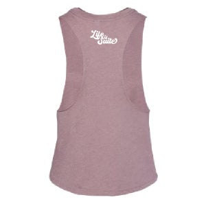 Image of Holy Schvitz Script Muscle Cropped Racerback Tank