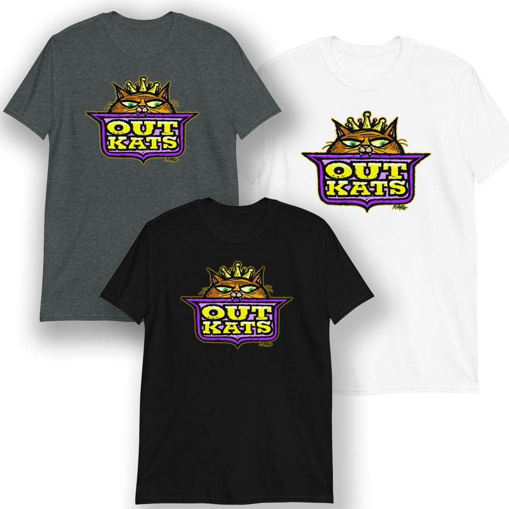 Image of OUTKATS unisex t-shirt (color version)