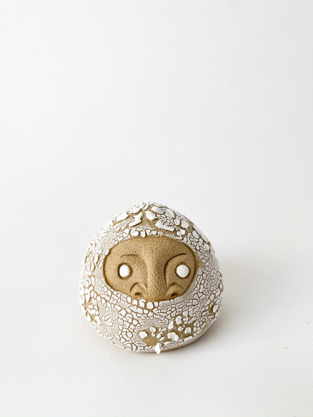 Image of Daruma Wishing Doll - Large White Crawl