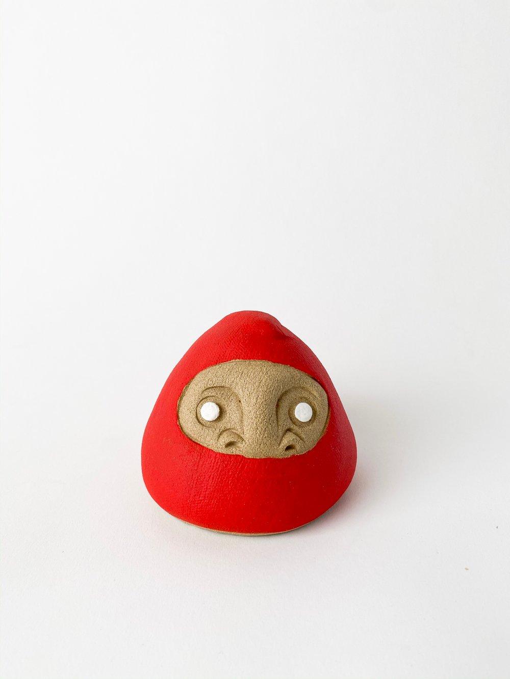 Image of Daruma Wishing Doll - Large Matte Red
