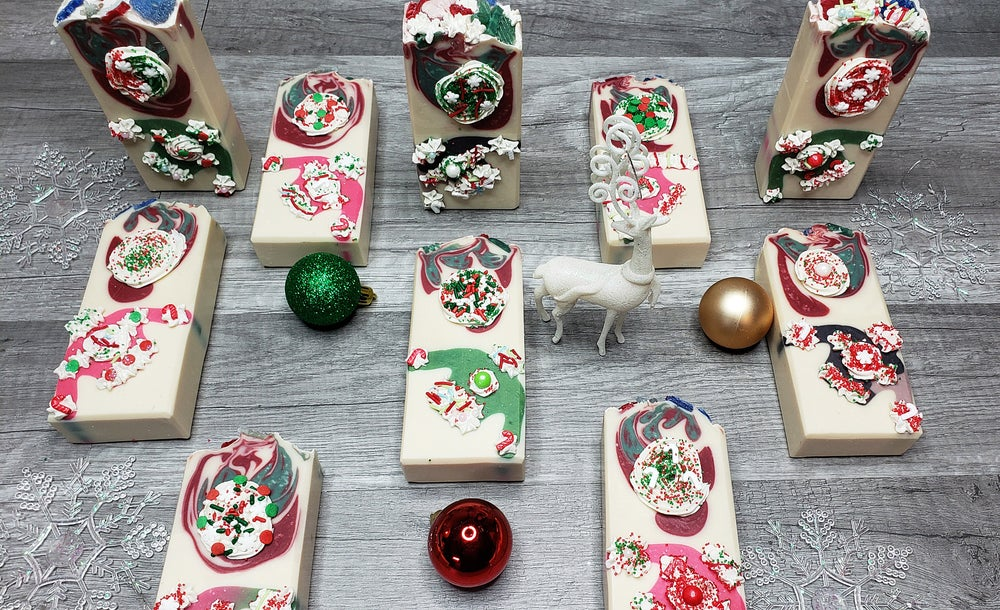 Image of UGLY CHRISTMAS SWEATER COLD PROCESS HANDMADE SOAPS