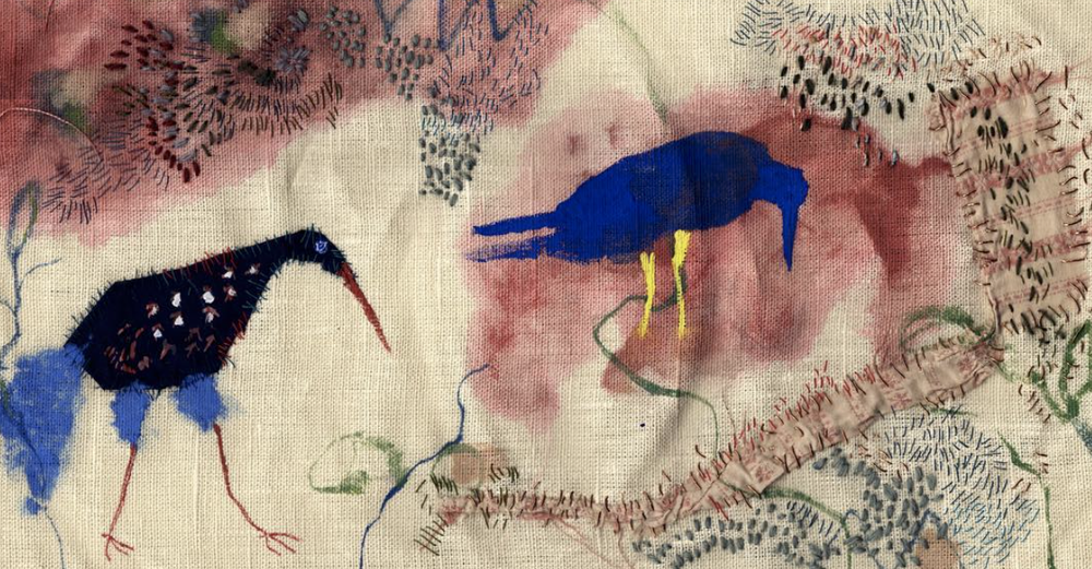 Image of Two Birds Embroidery