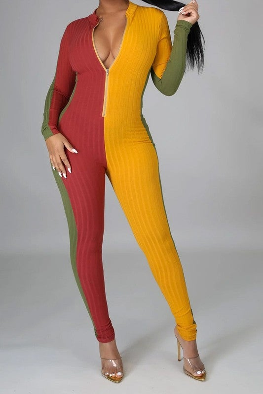 Image of Color Block Jumpsuit