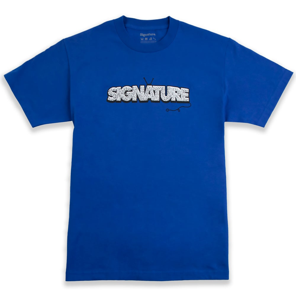 Image of UNPLUGGED T SHIRT - ROYAL BLUE