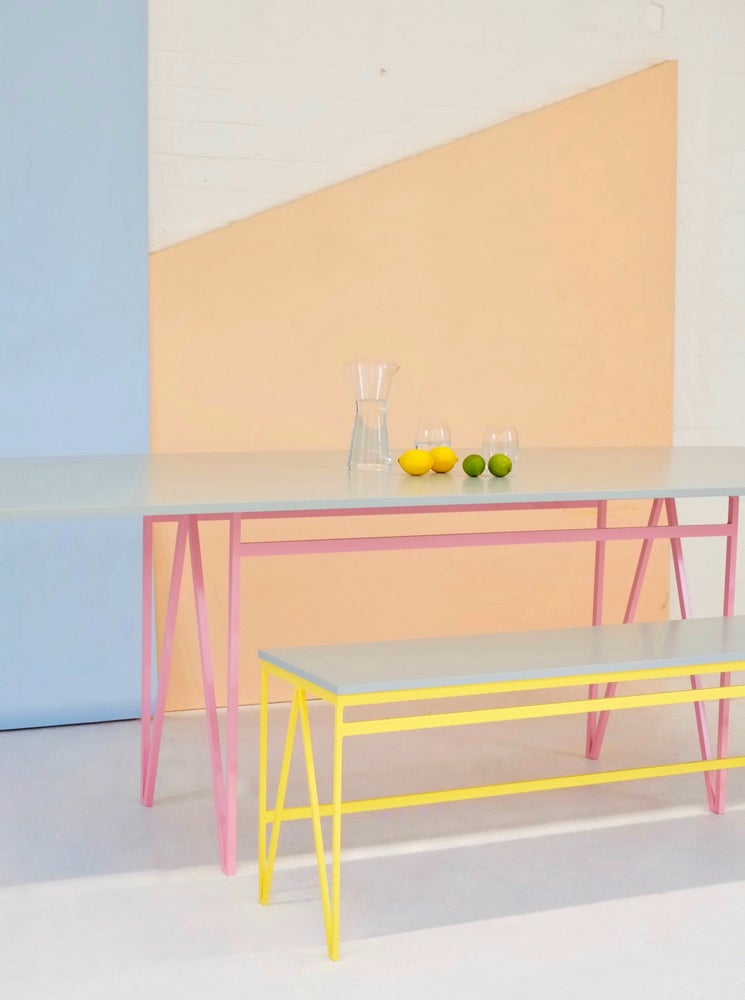 Image of Colour Play Dining Table in Eucalyptus