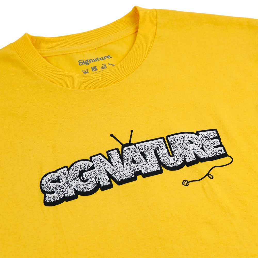 Image of UNPLUGGED T SHIRT - YELLOW