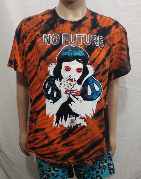 Image of Tie Dye tiger stripes NO FUTURE Snow White size XLarge