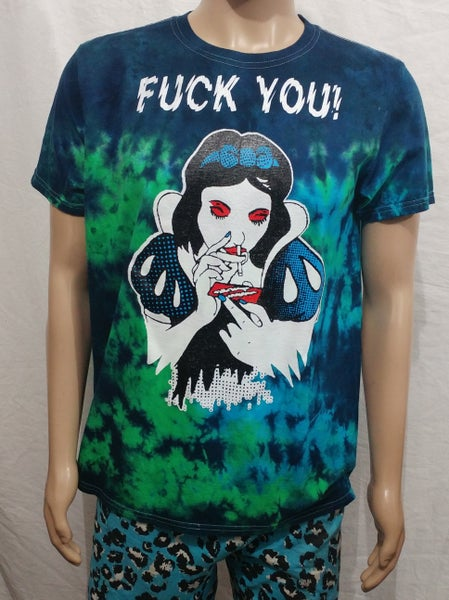 Image of Tie dye Fuck you snow white size Large