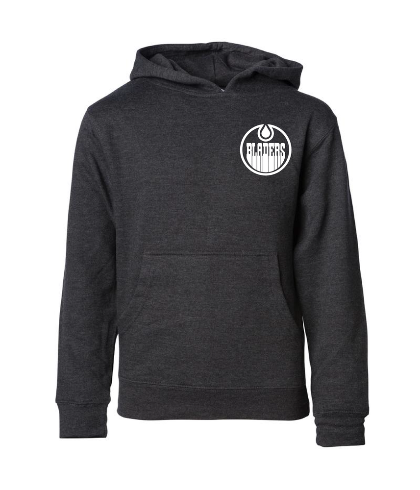 Image of Bladers Pullover Hoodie - Charcoal Heather - Youth - Preorder