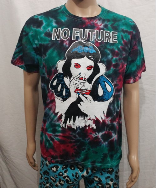 Image of Tie dye No Future snow white size Large