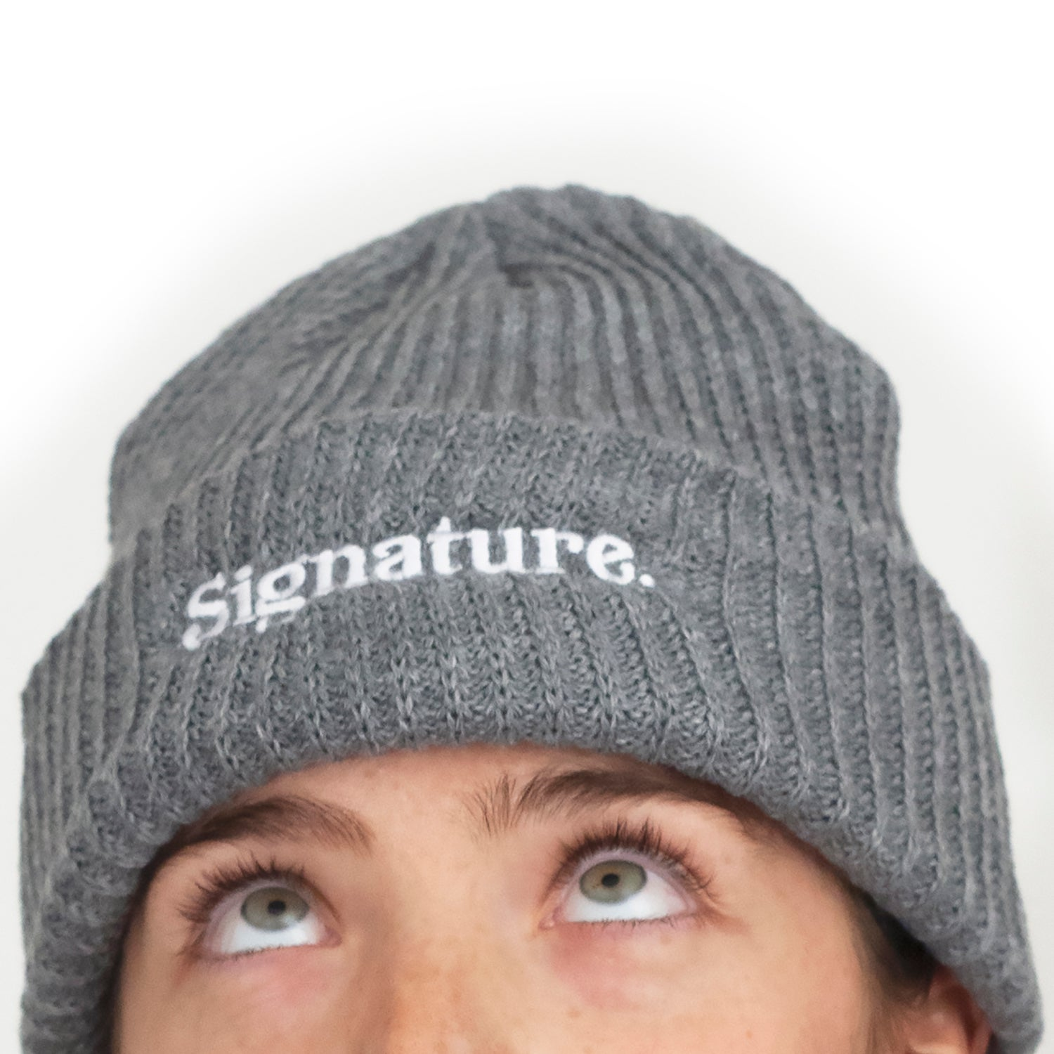 Image of LOGO BEANIE - HEATHER GREY