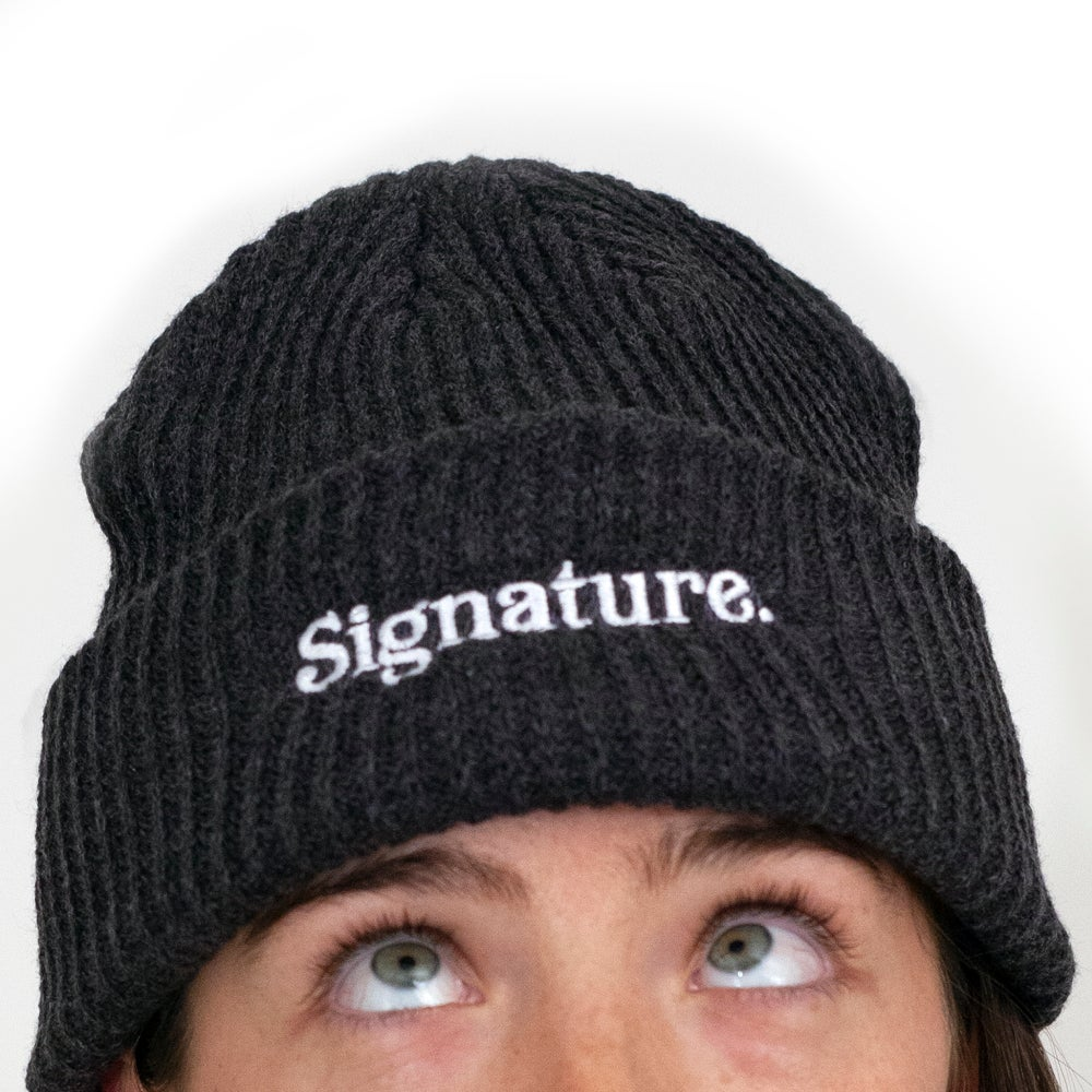 Image of LOGO BEANIE - CHARCOAL