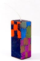 Image 3 of Stack Tower in green, midnight blue, red, magenta, blue, olive and grey