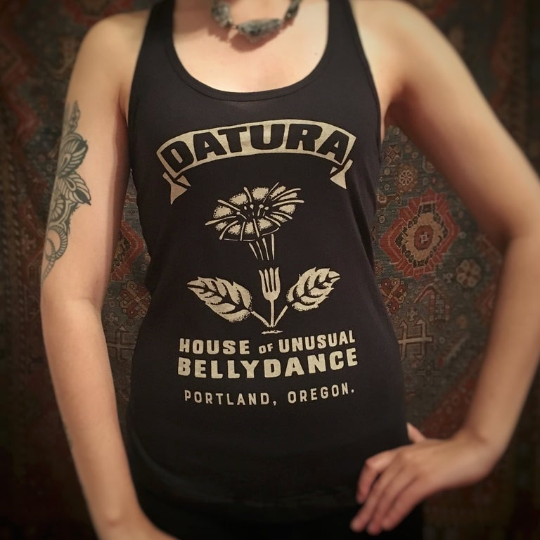 Image of Datura Match Racerback Tank, Black
