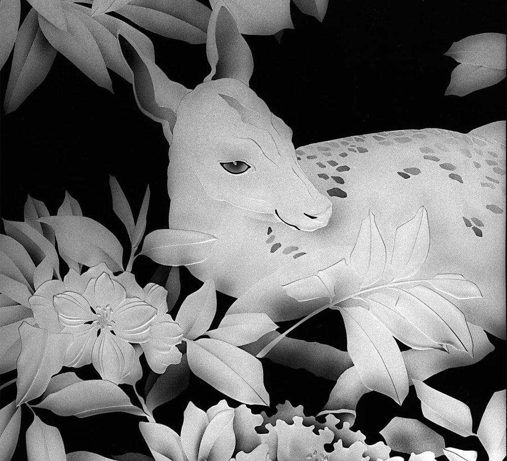Image of Fawn Black and White Note Cards
