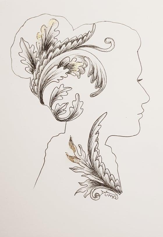 "Image of Mini drawing ""Inner blossom #13"""