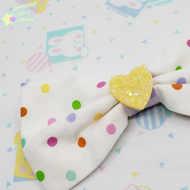 Image of Sweet Mix Cotton Polka Dot Hair Bow Alligator Clip Bow