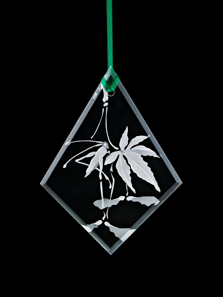 Image of Japanese Maple Leaf with Cricket Pendants