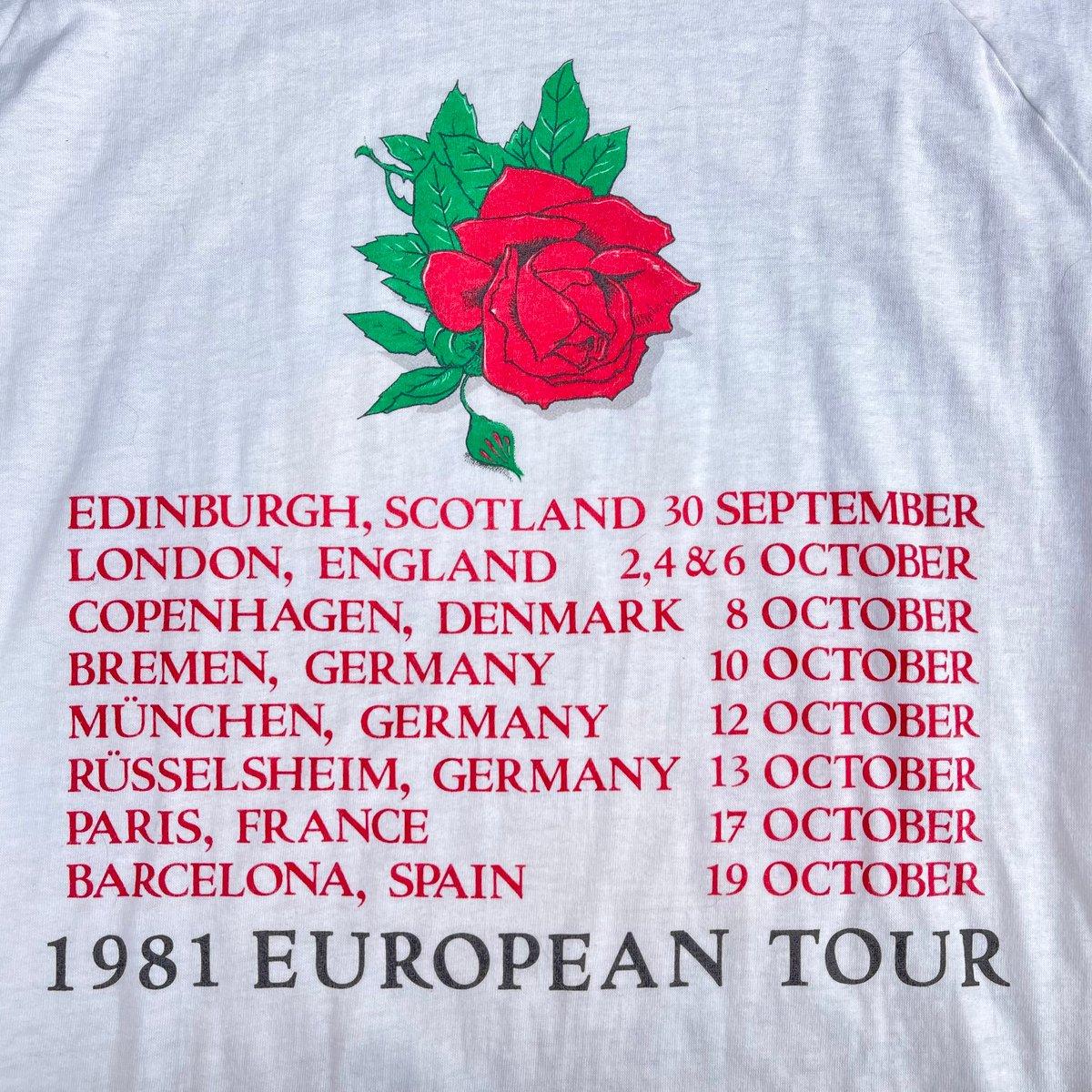 Original Rare Vintage Grateful Dead/Stanley Mouse 1981 Europe Tour Jersey! XL