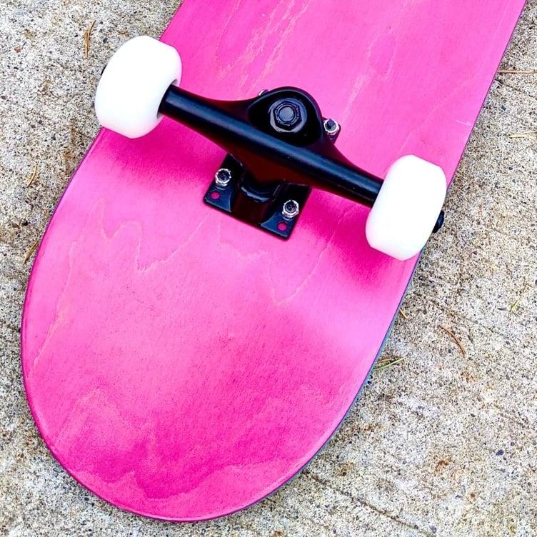 """Image of Pink 7.5"""" Complete Skateboard"""