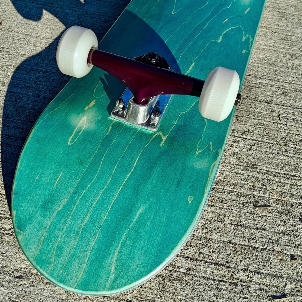 """Image of Turquoise 7.75"""" Complete Skateboard"""