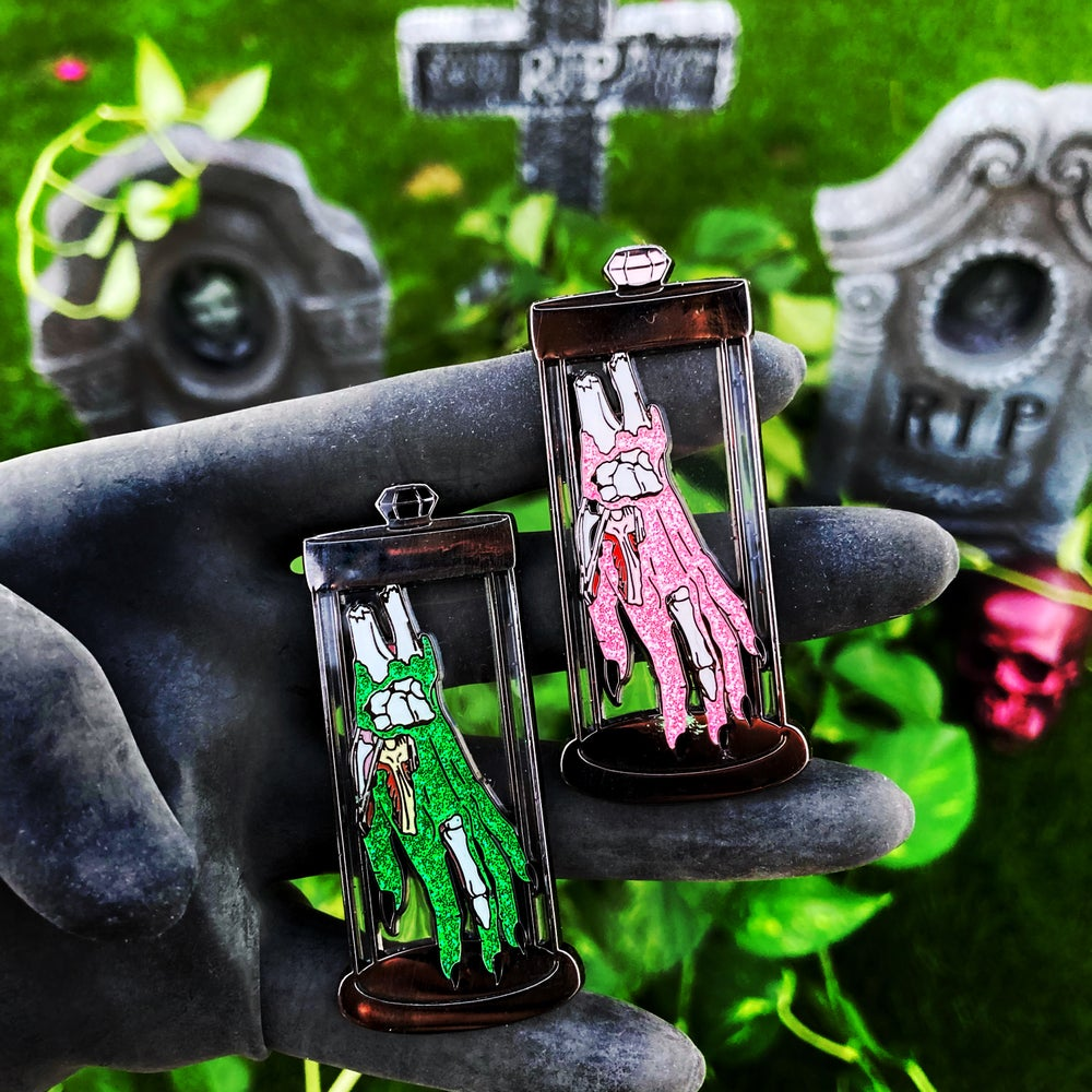 Image of Decaying Human Hand Specimen  Pin Carla Valentine Collab