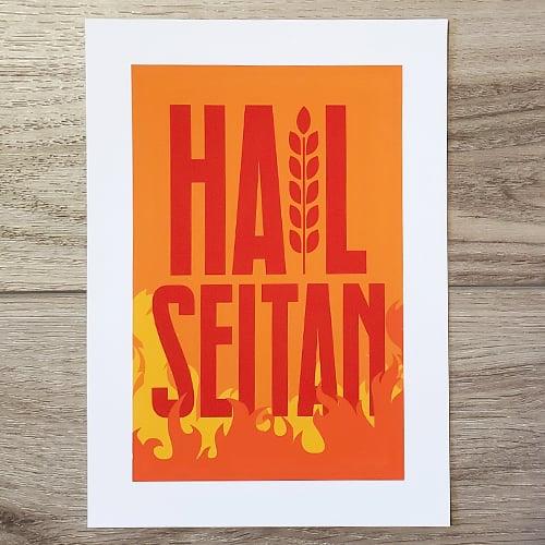 Image of Hail Seitan Print