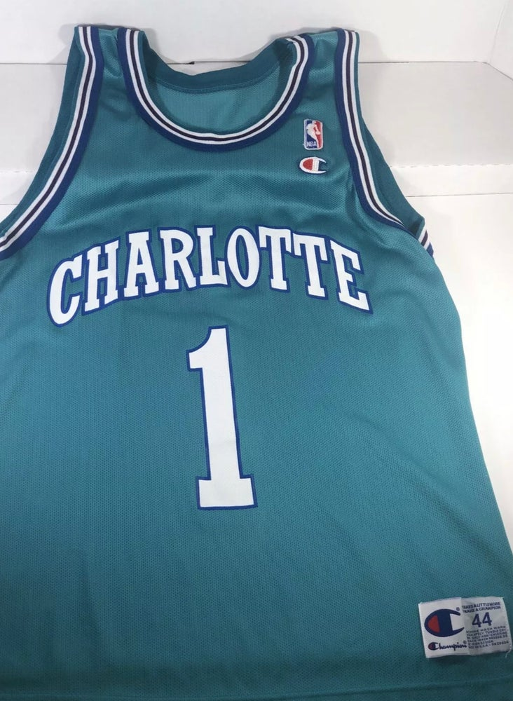 Image of 90's Vintage Champion Muggsy Bogues Jersey Size 44(L)