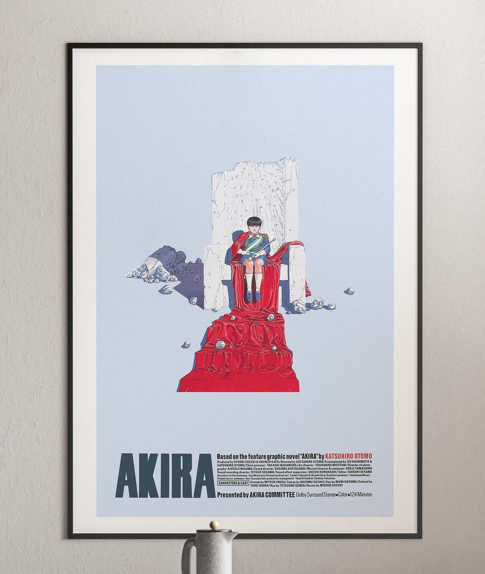 On the Throne - Akira Anime Poster, Cyberpunk Movie Poster