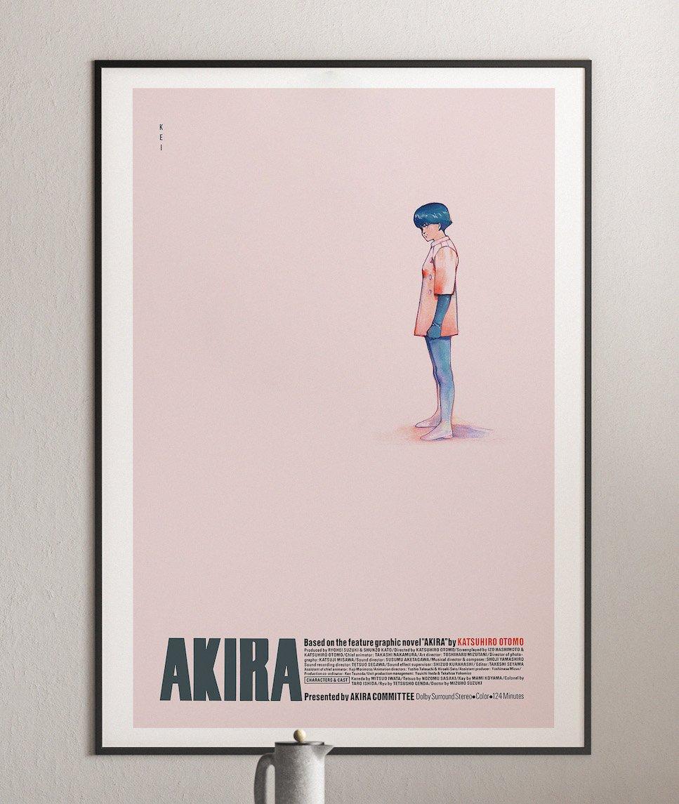 Kei - Akira Anime Poster, Cyberpunk Movie Poster