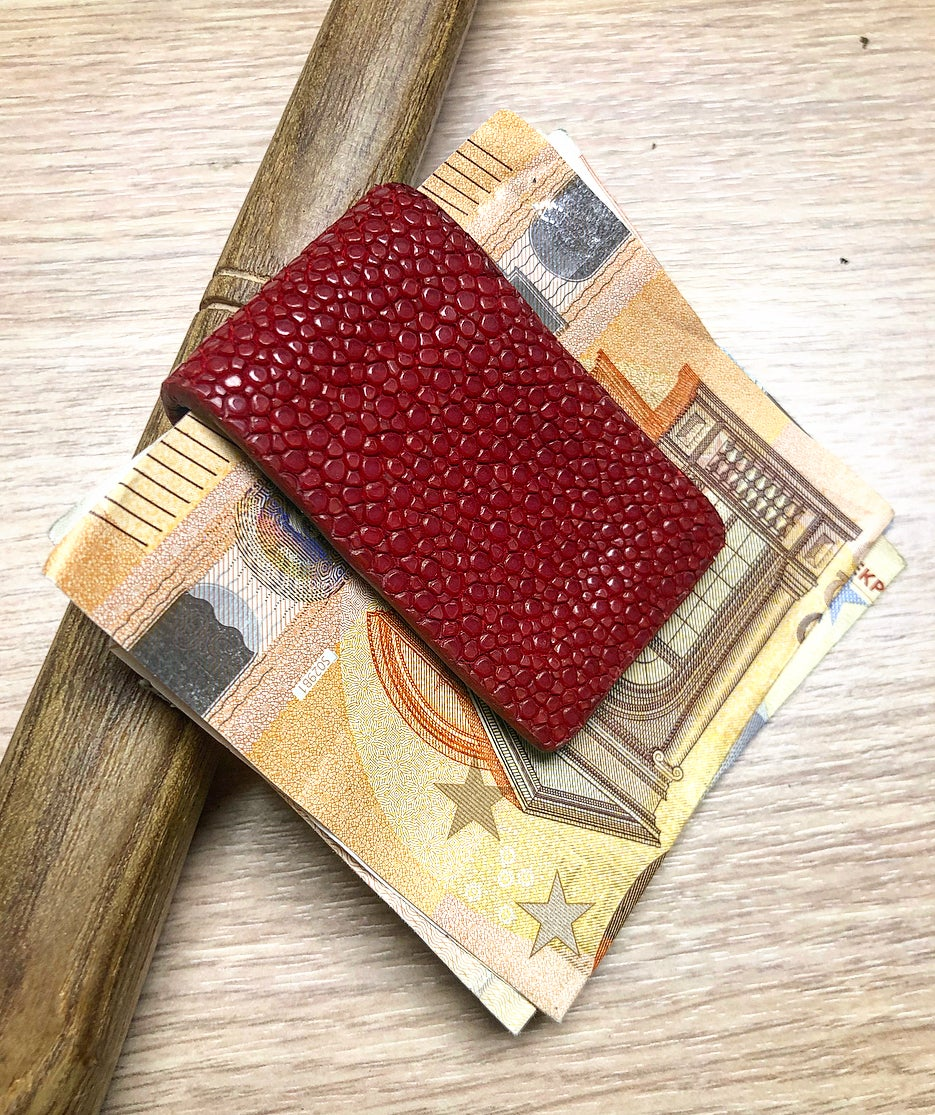 Image of Red Stingray Magnetic Money Clip