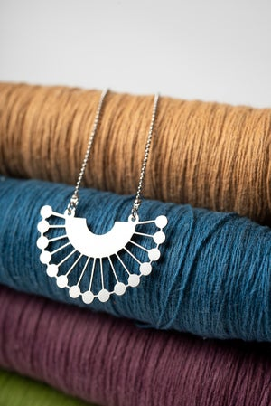 Image of Silver RBG Collar Necklace #1