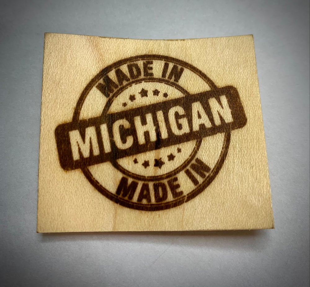 """Made in Michigan"" Flame heated branding iron"