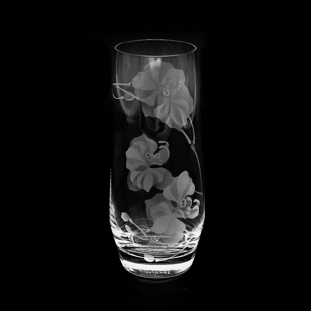 Image of Moth Orchids Stemless Champagne Glasses