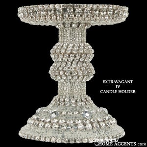 Image of  Swarovski Crystal Candle Holder Extravagant IV