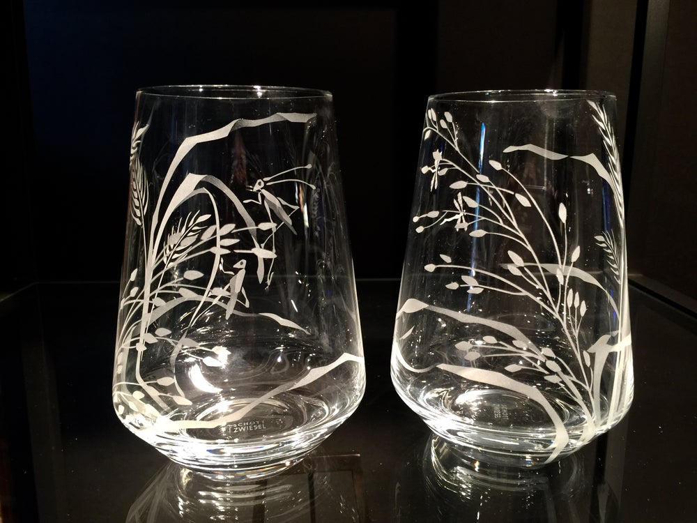 Image of Grasses Stemless Wine Glasses