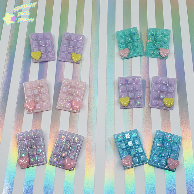 Image of Pair of TWO Sparkling Choco Hair Clips