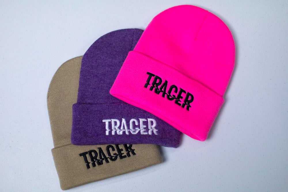 """tracer"" beanie"