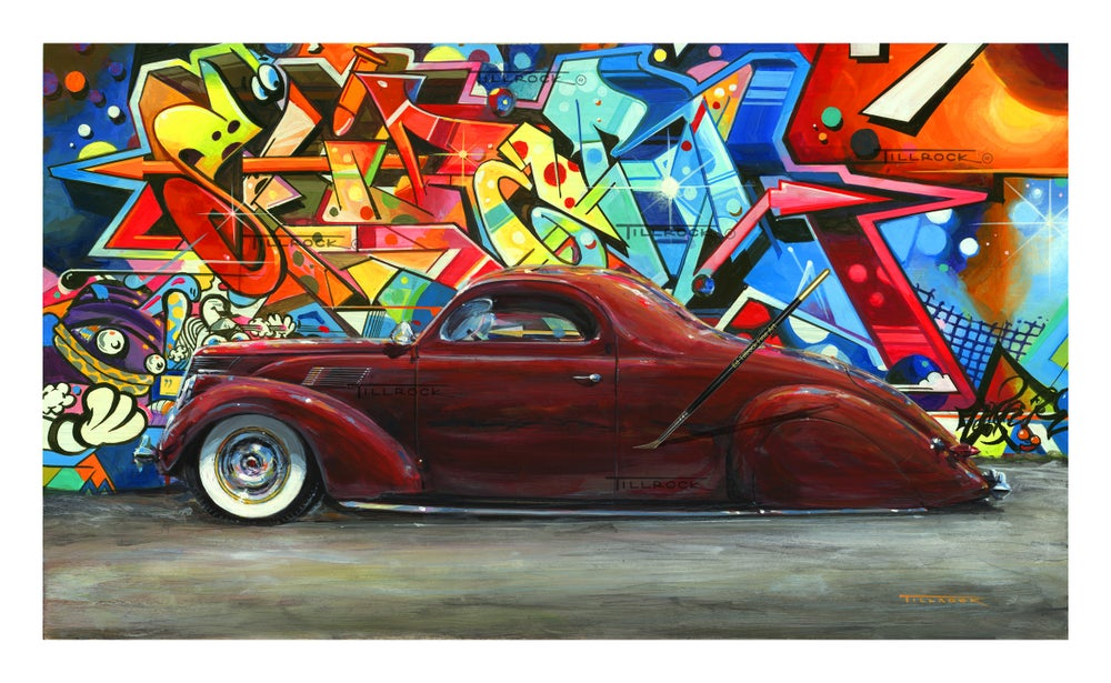 "Image of ""The Graffiti Zephyr"" 20"" x 28"" Signed & Numbered Giclee' Prints"