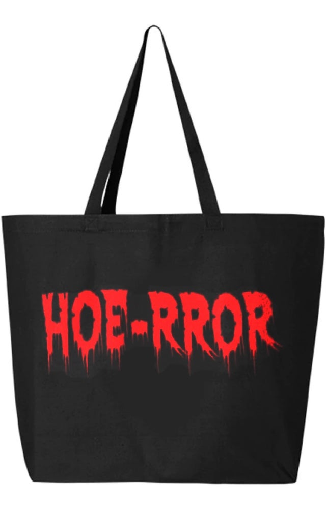 Image of Hoe-rror Large Tote Bag