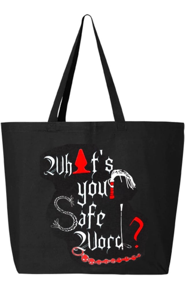 Image of Safe Word Large Tote Bag