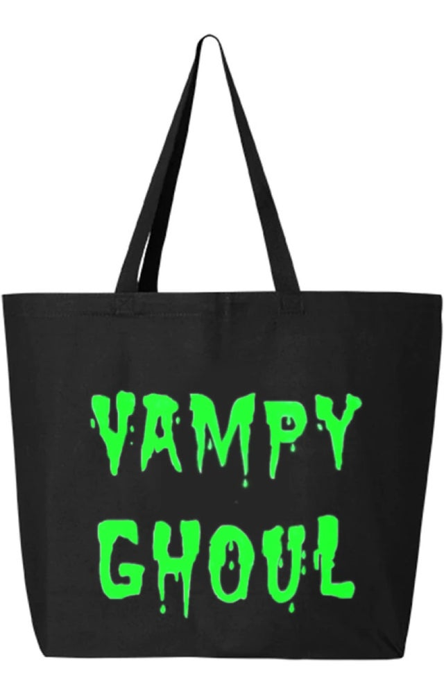 Image of Green Vampy Ghoul Large Tote Bag