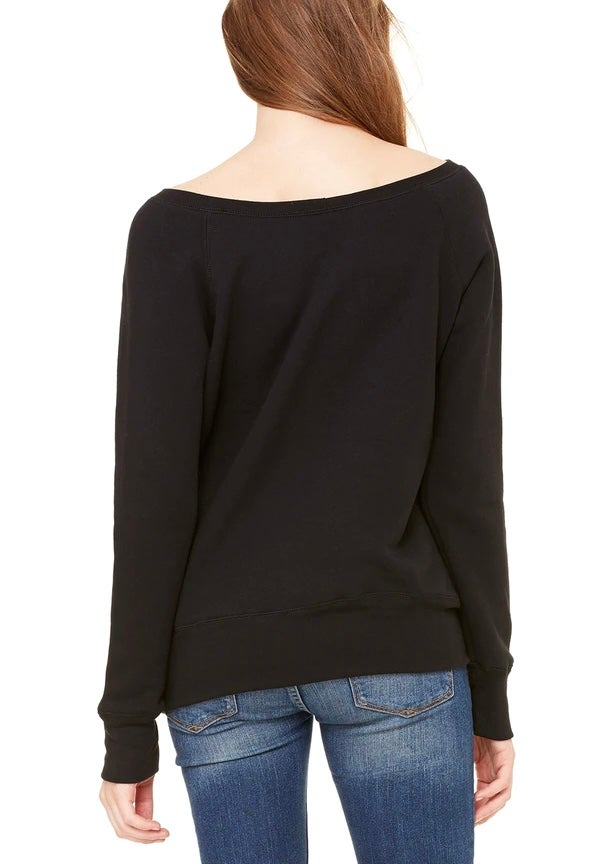 Image of Lucky Kitty Off Shoulder Sweater